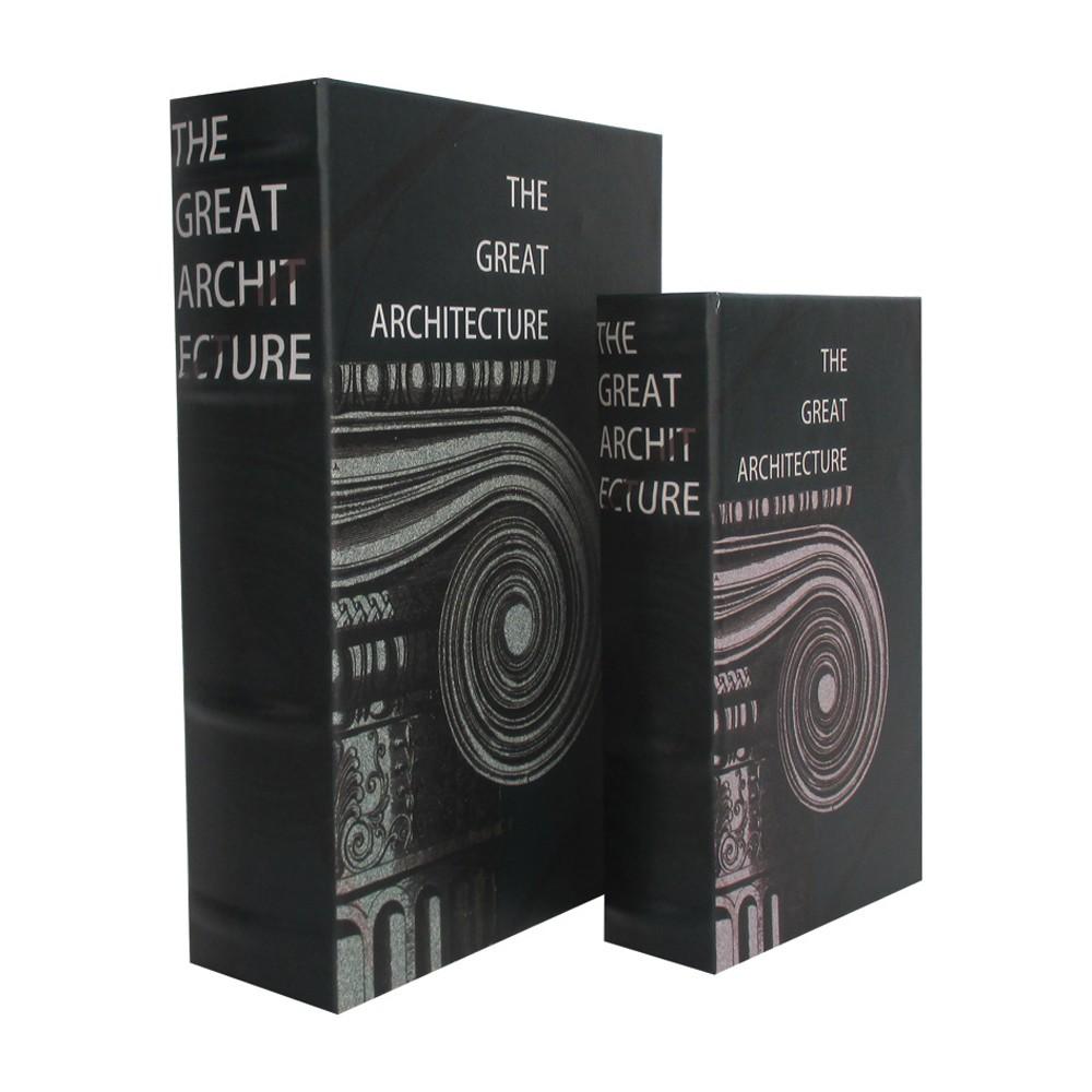 Caixa Livro em Madeira The Great Architecture Peças 2 30cmx21cmx7cm