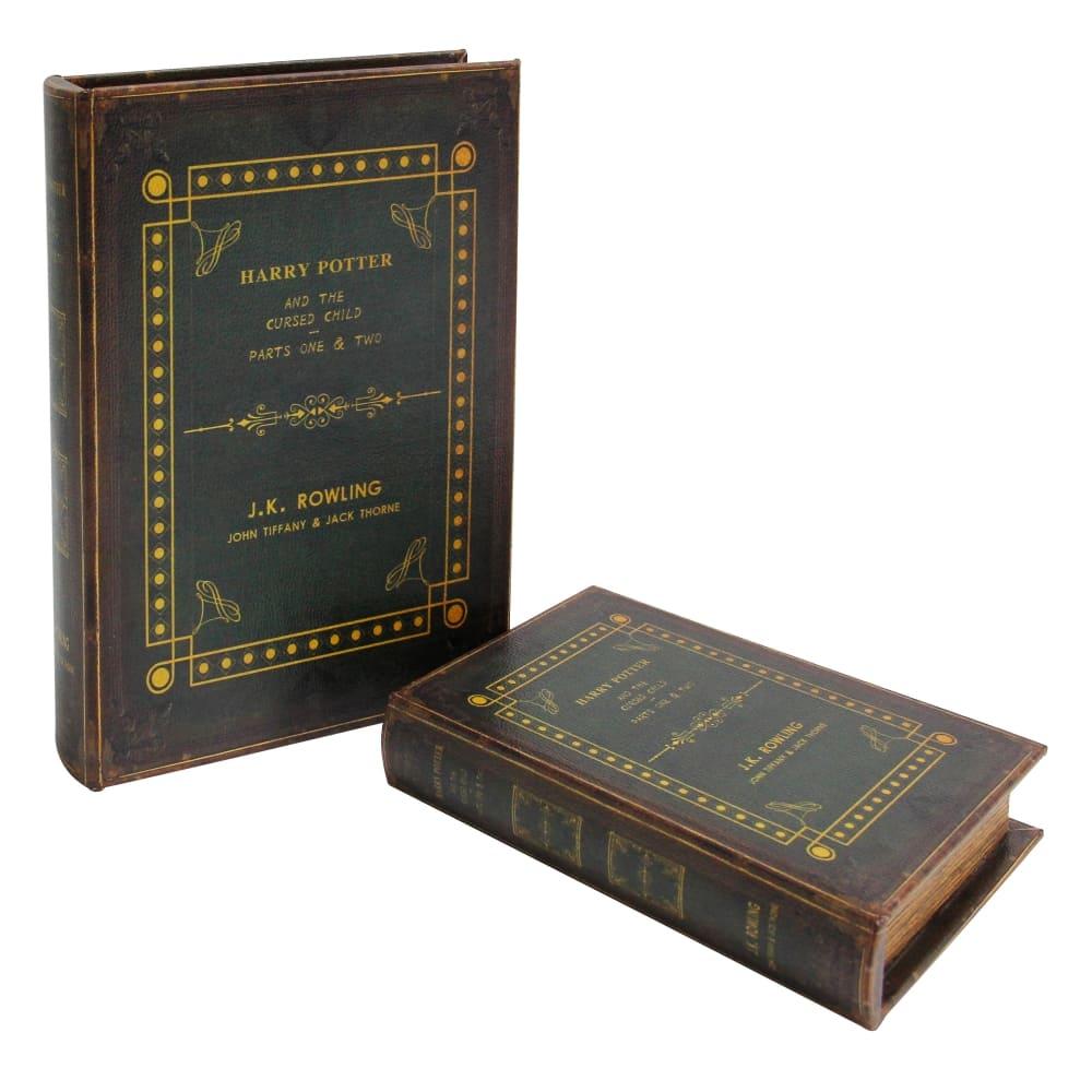 Caixa Livro Gardens 2 Peças Harry Potter 27cmx19cmx8cm