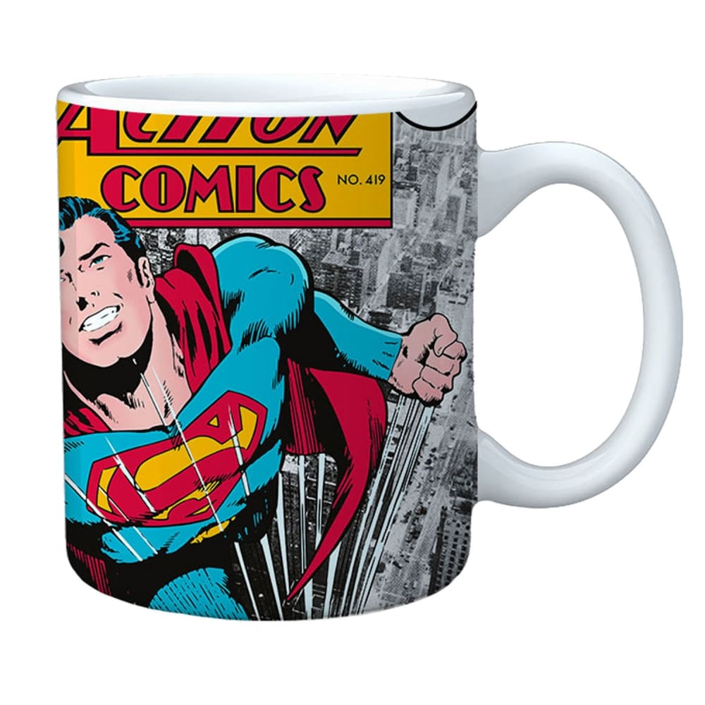 Caneca Porcelana Superman Action Comics 300Ml