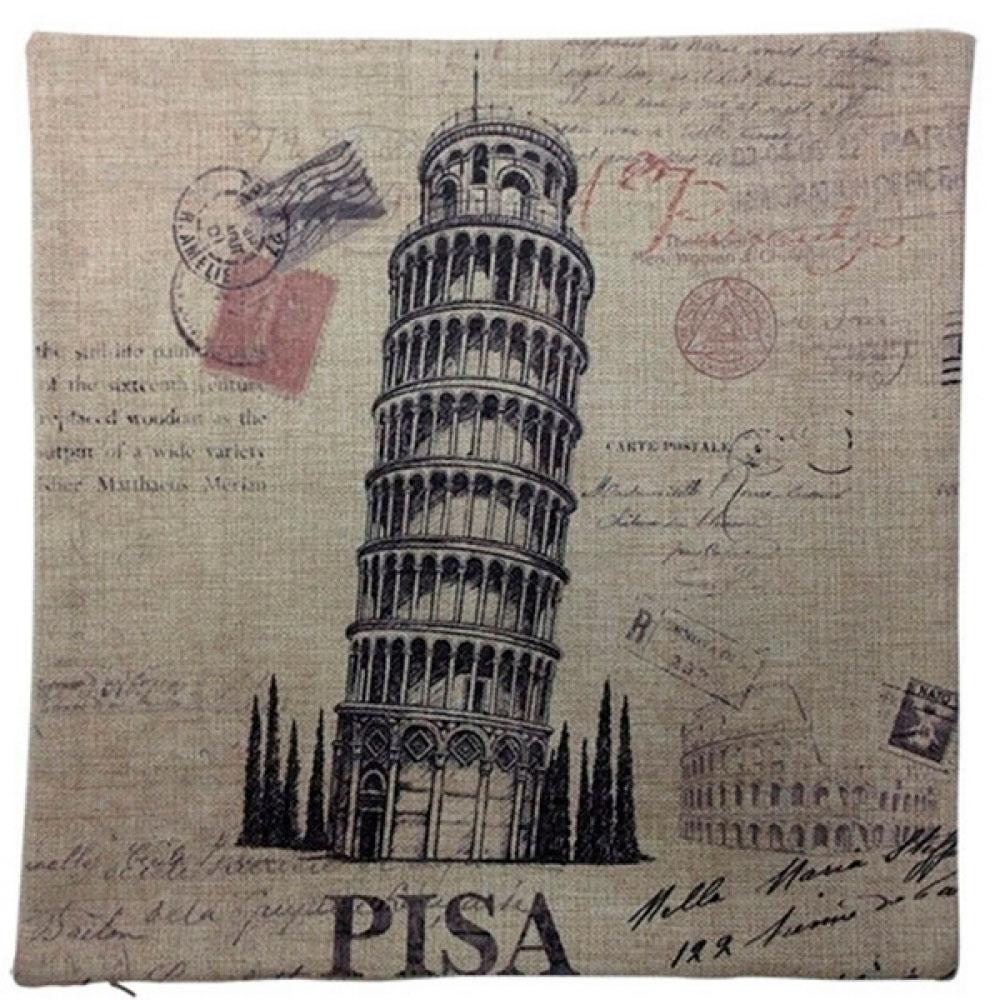 Capa De Almofada Pisa 45X45 Cm.