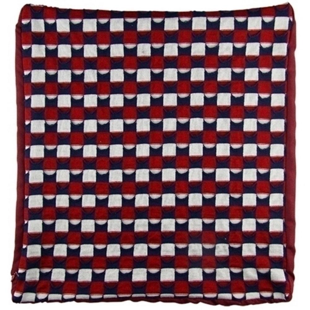 Capa De Almofada Vermelha, Azul e Branco 45X45 Cm.