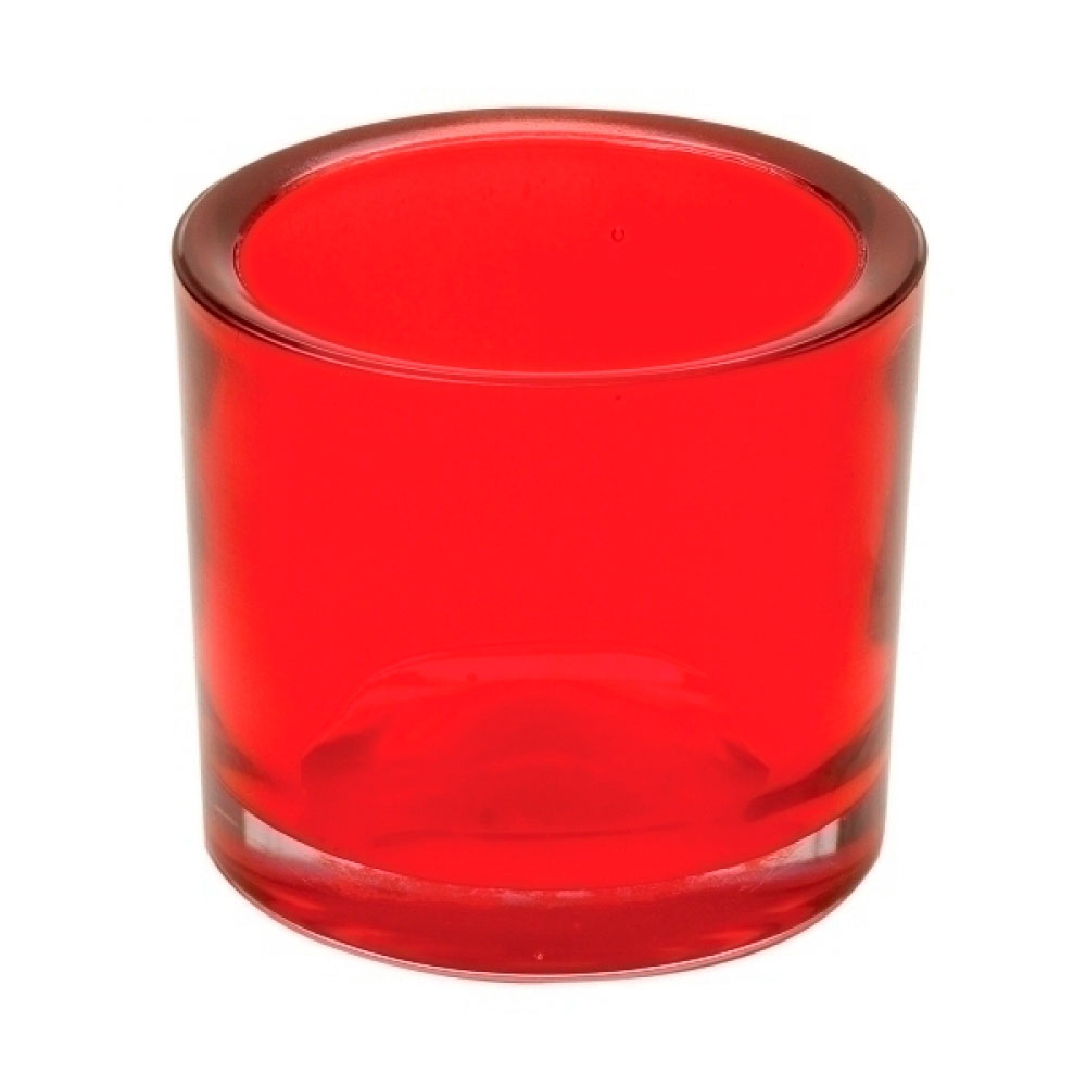 Castiçal Vermelho 9x8cm