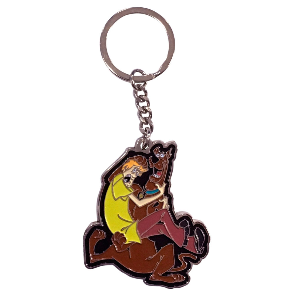 Chaveiro Metal HB Scooby Doo And Shaggy Frightned