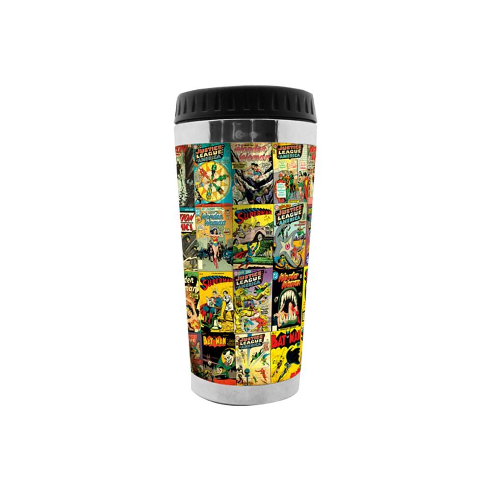 Copo Térmicos Plastico Dc Comics 17cmx6cmx8