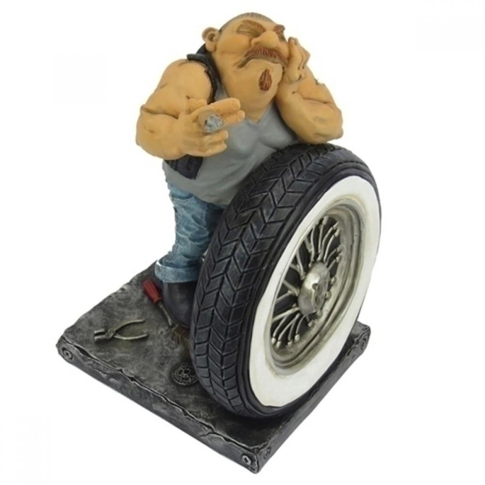 Escultura em Resina Borracheiro 18cmx12cmx12cm