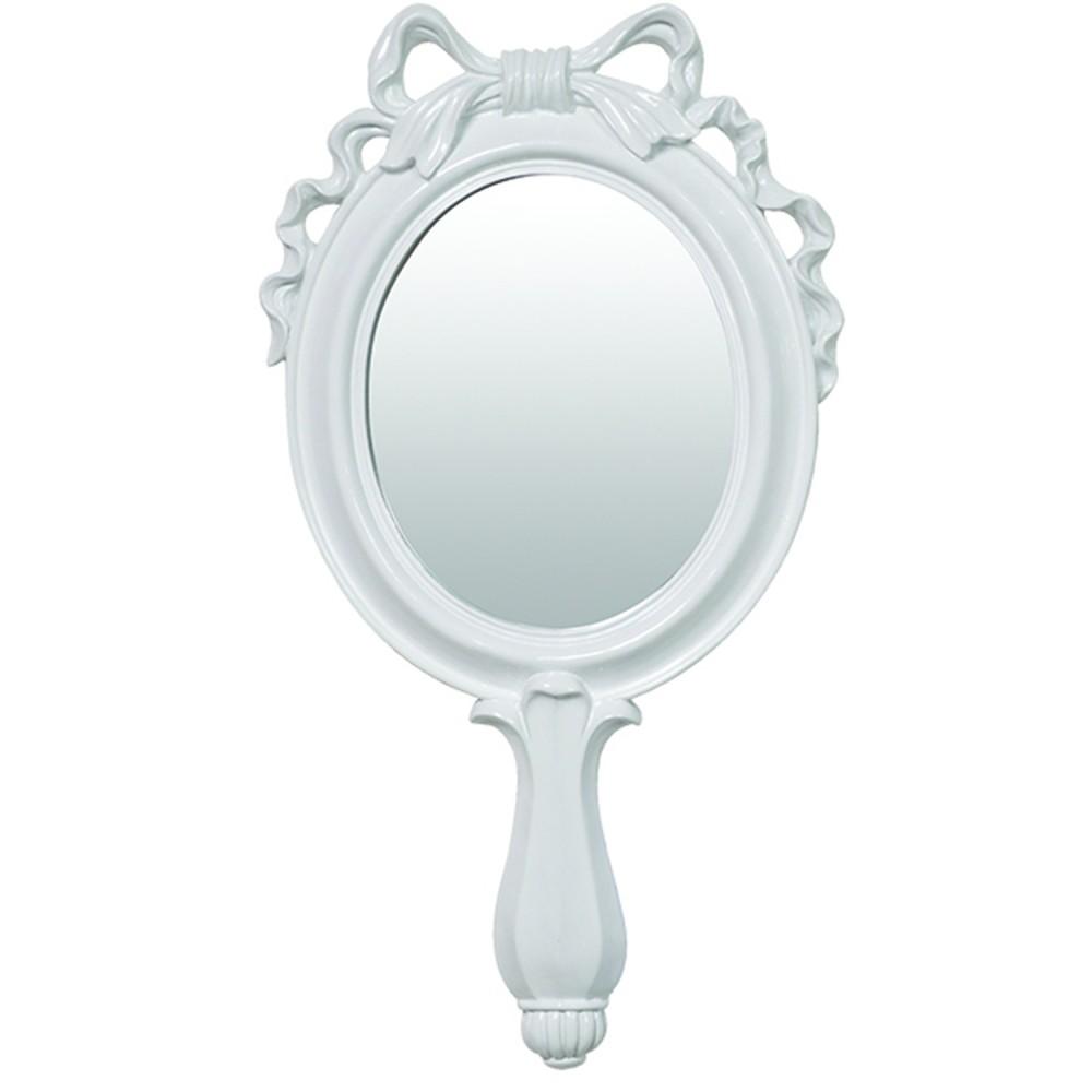 Espelho Combers Laço Médio Branco Em Resina 45cmx24cmx2cm