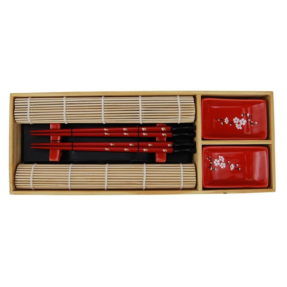Kit De Comida Japonesa para 2 Pessoas Vermelho