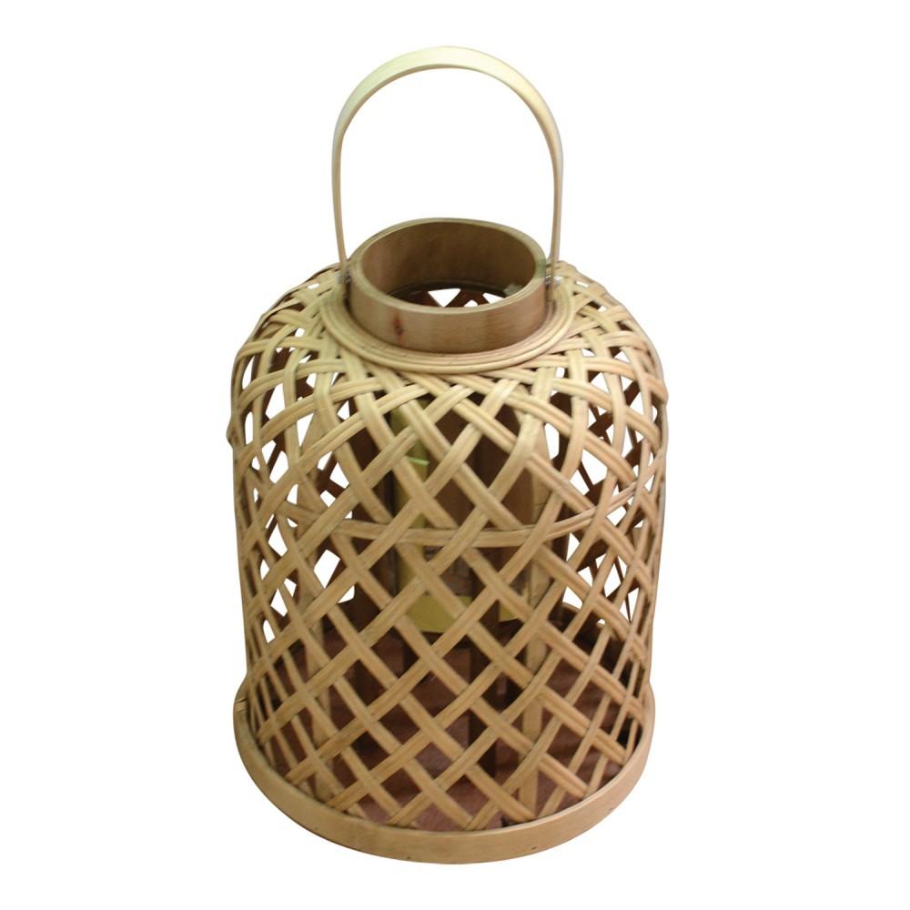 Lanterna De Bambu Ballon 25cmx25cmx30cm