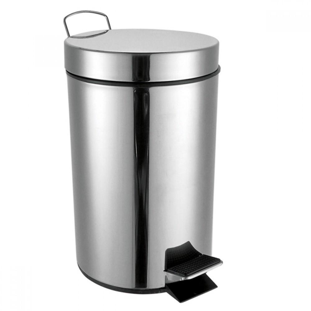 Lixeira De Banheiro De Metal 20cmx27cm 4L