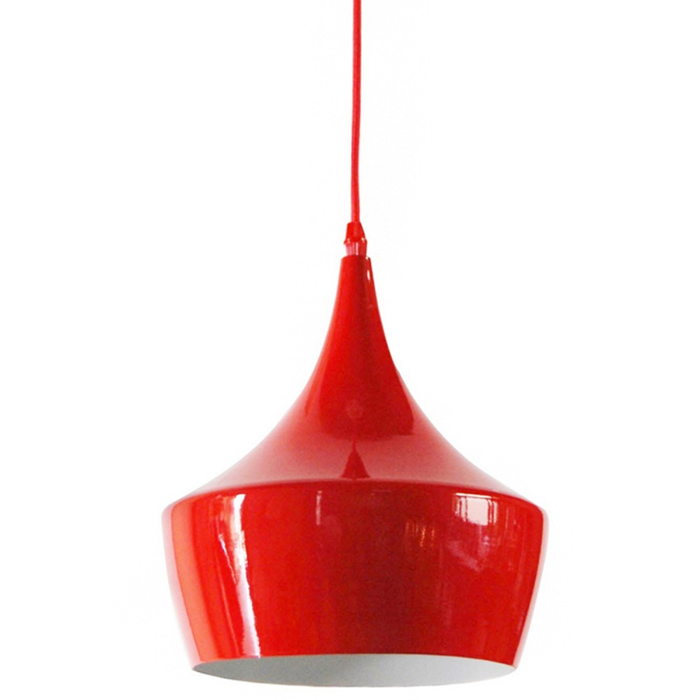 Luminária  Metal Cirque Tend Vermelho E14 Diam 24cm