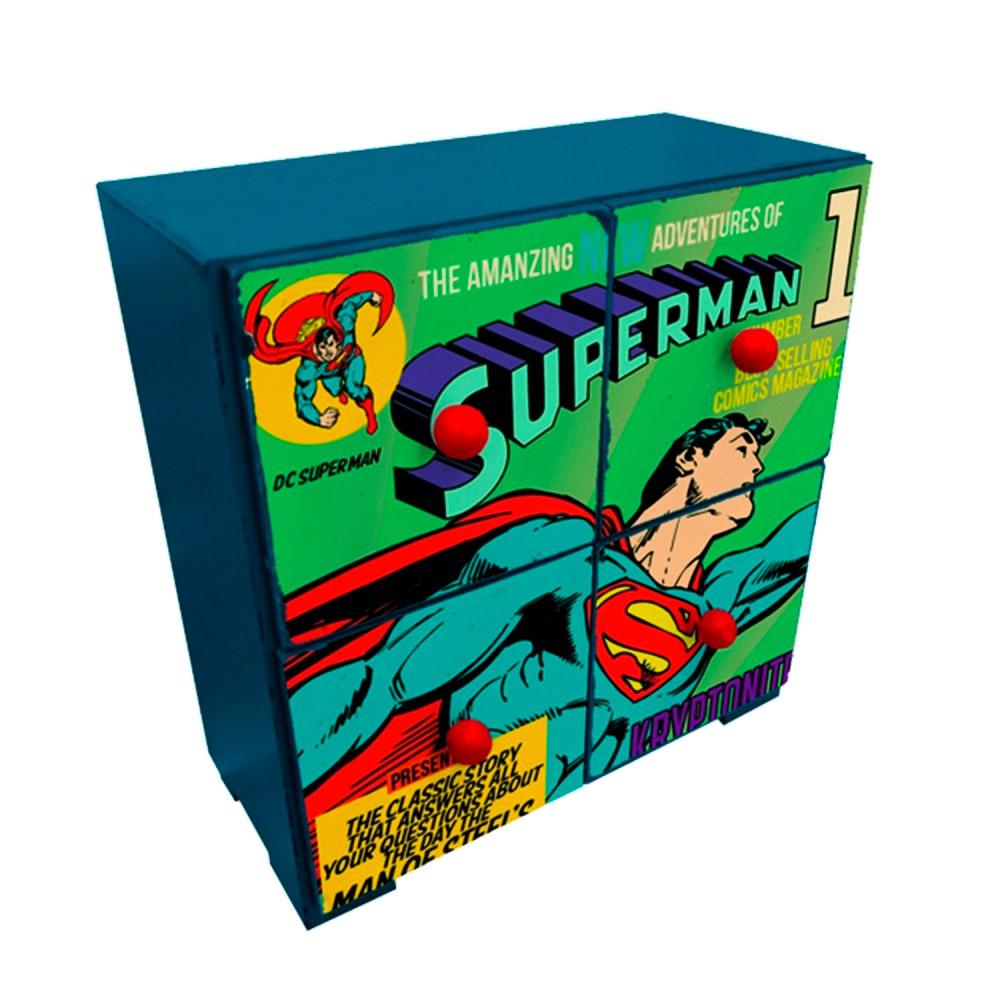 Mini Gaveteiro DCO 4 Drawers Superman Flying