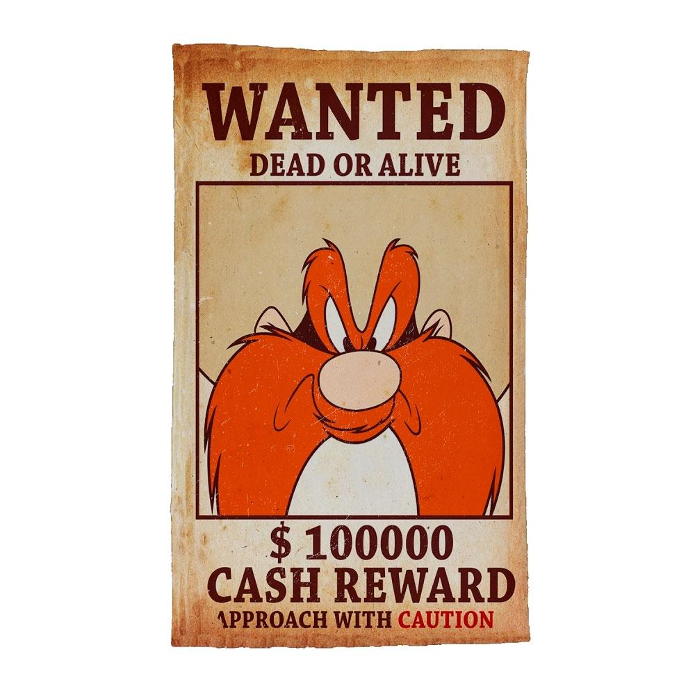 Pano De Prato Algodão Looney Yosemite Wanted.
