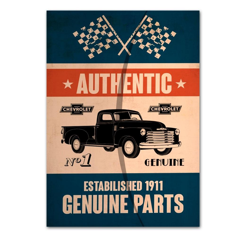 Pasta Envelope Plástico PP GM Genuine Parts Azul