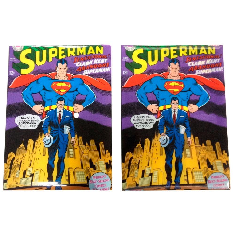 Pastas envelope plastico pp DC superman