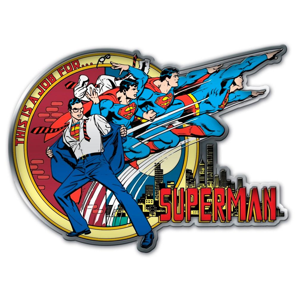 Placa de parede metal recortada DC SUPERMAN