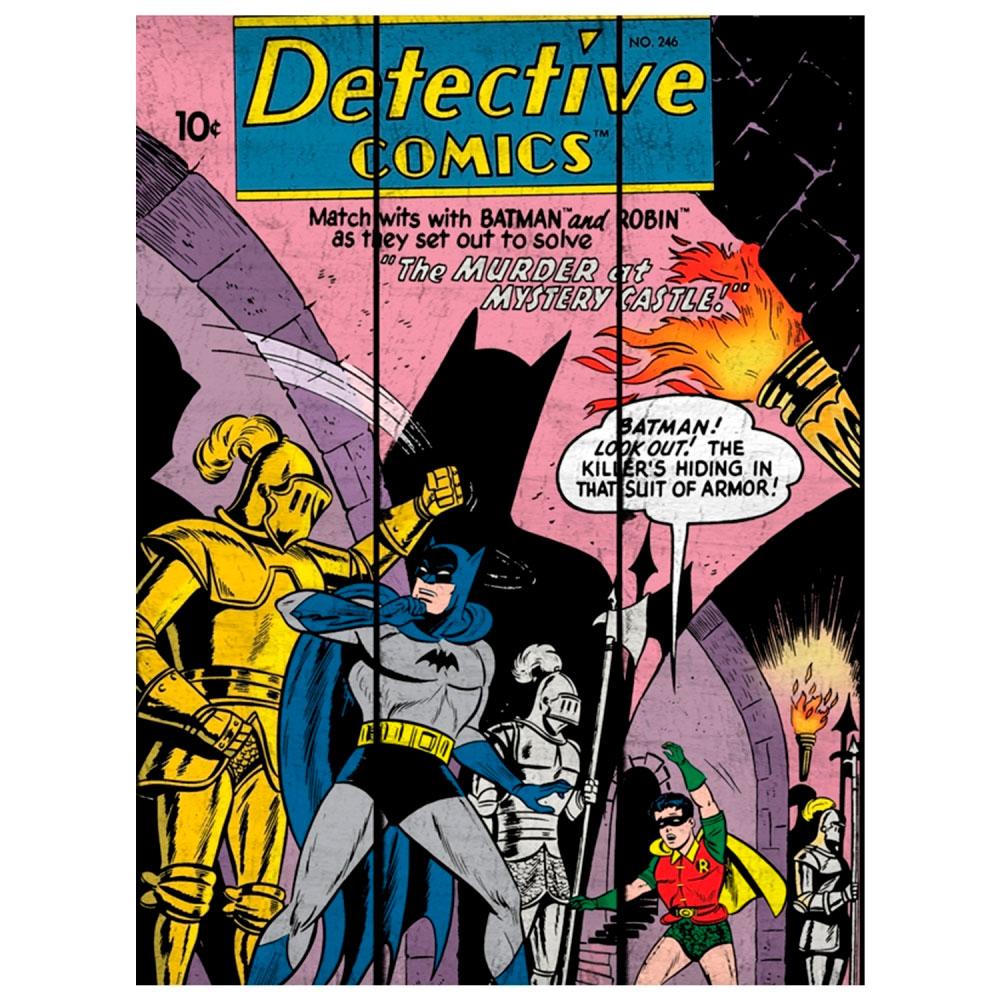 Placa Madeira DC Batman And Robin