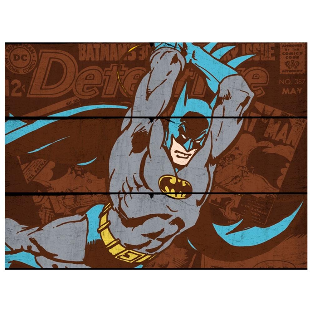 Placa Madeira DCO Batman Attacking Position