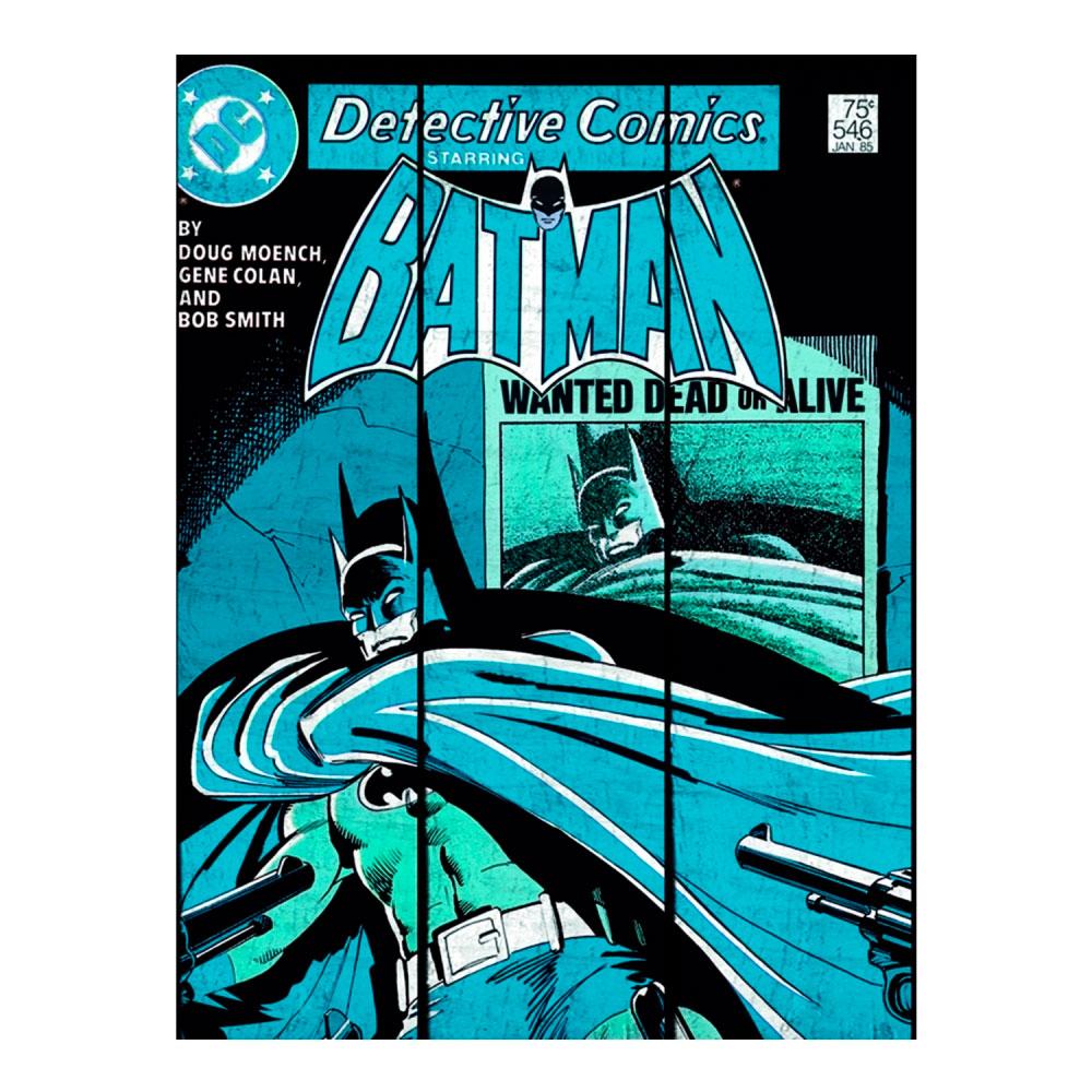 Placa Madeira DCO Batman Shadow Azul