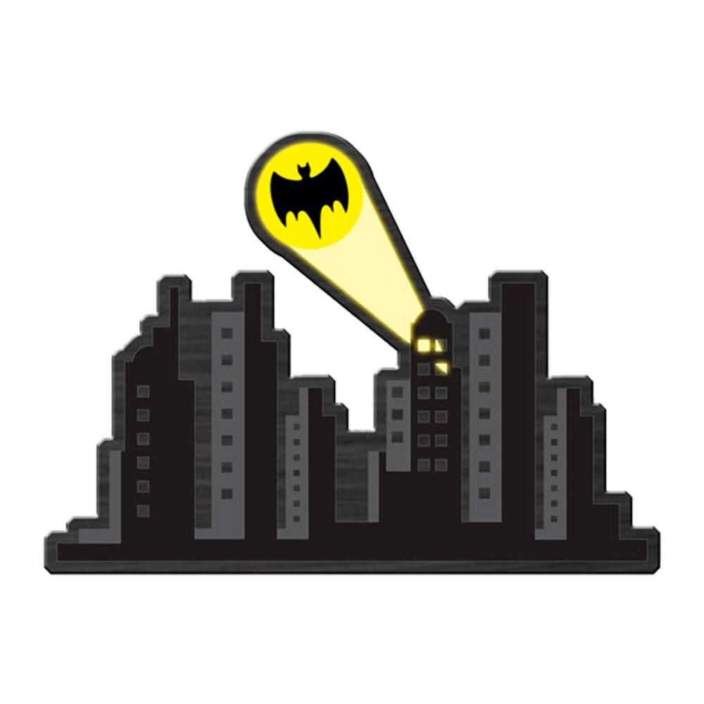 Placa Madeira DCO Gotham City Cinza Amarelo