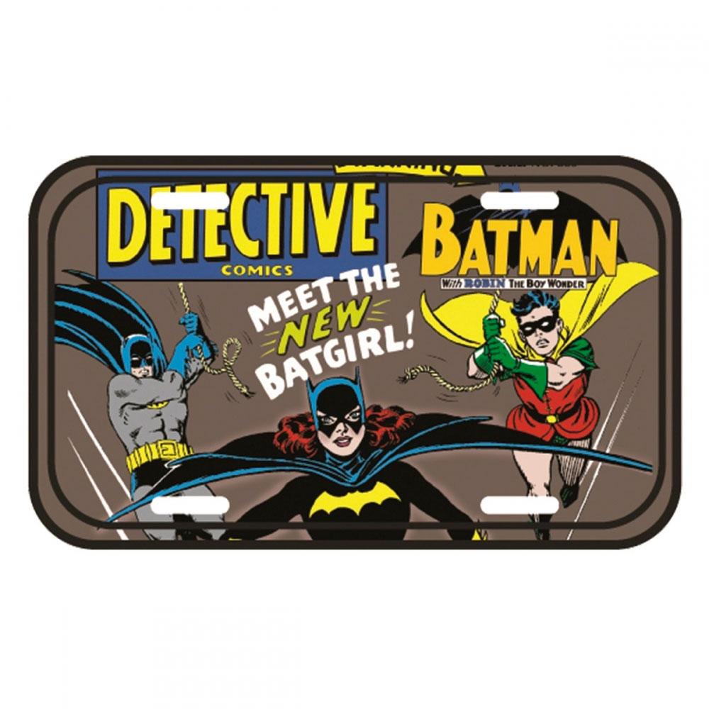 Placa Parede Metal DC Meet The Batgirl FD