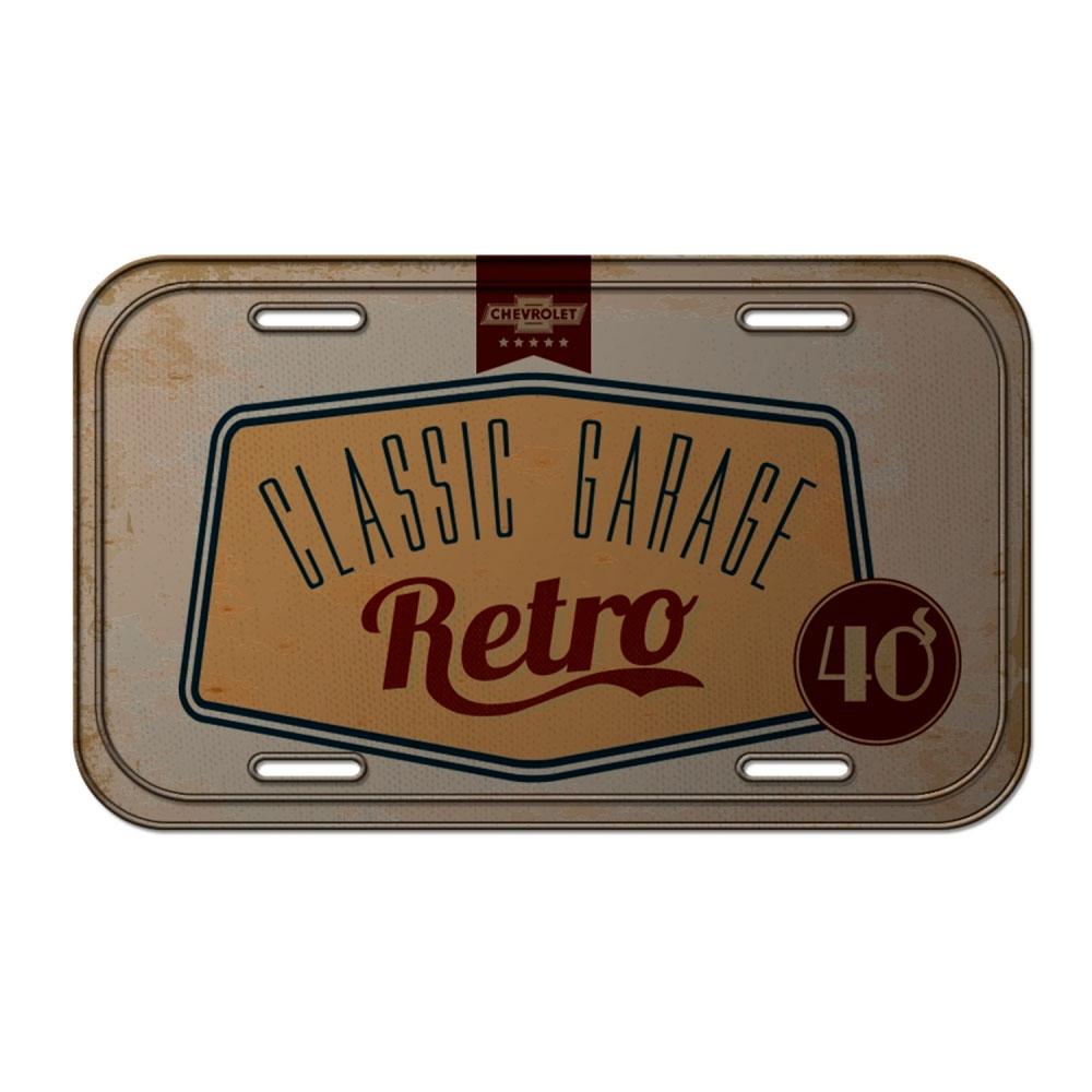 Placa Parede Metal GM Classic Garage Retro