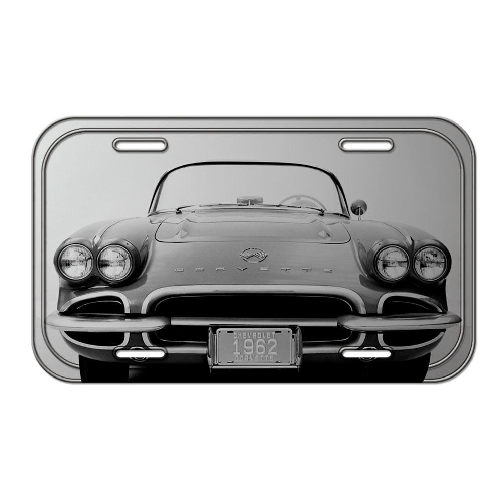 Placa Parede Metal GM Corvette FD Cinza