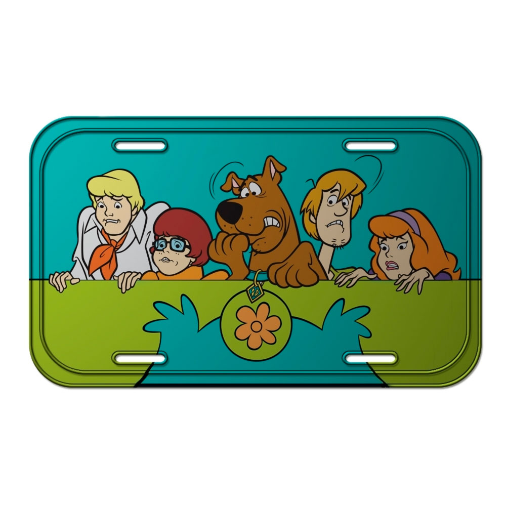 Placa Parede Metal HB Scooby Everybody Scared