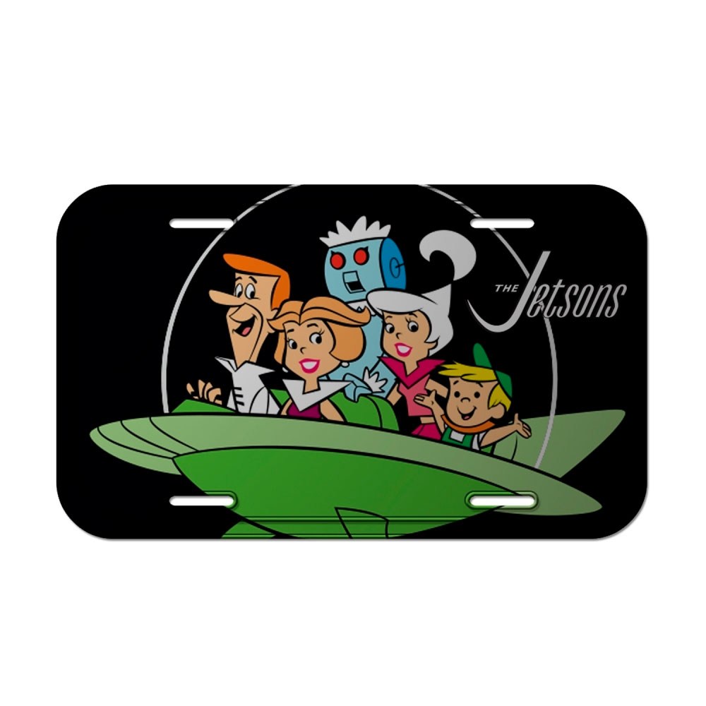 Placa Parede Metal HB The Jetsons Family Spaceship