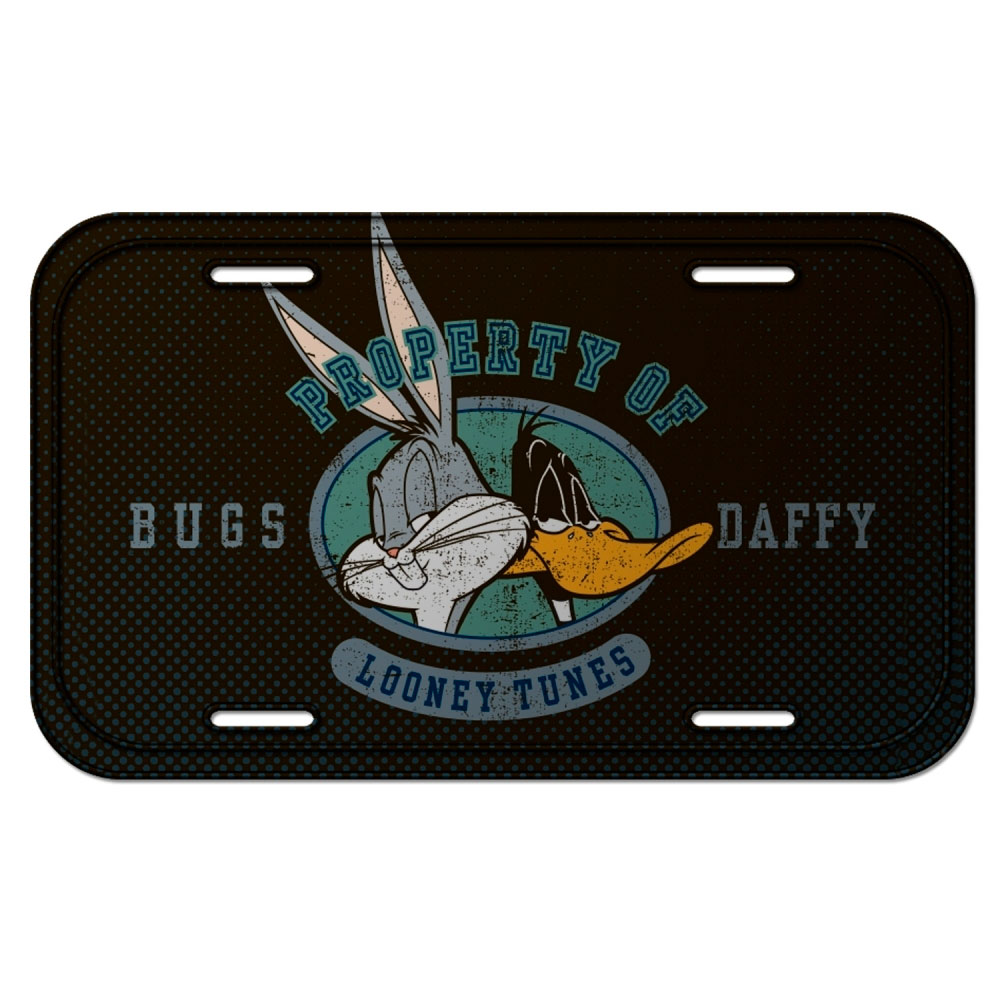 Placa Parede Metal Looney Bugs Bunny And Daffy Duck