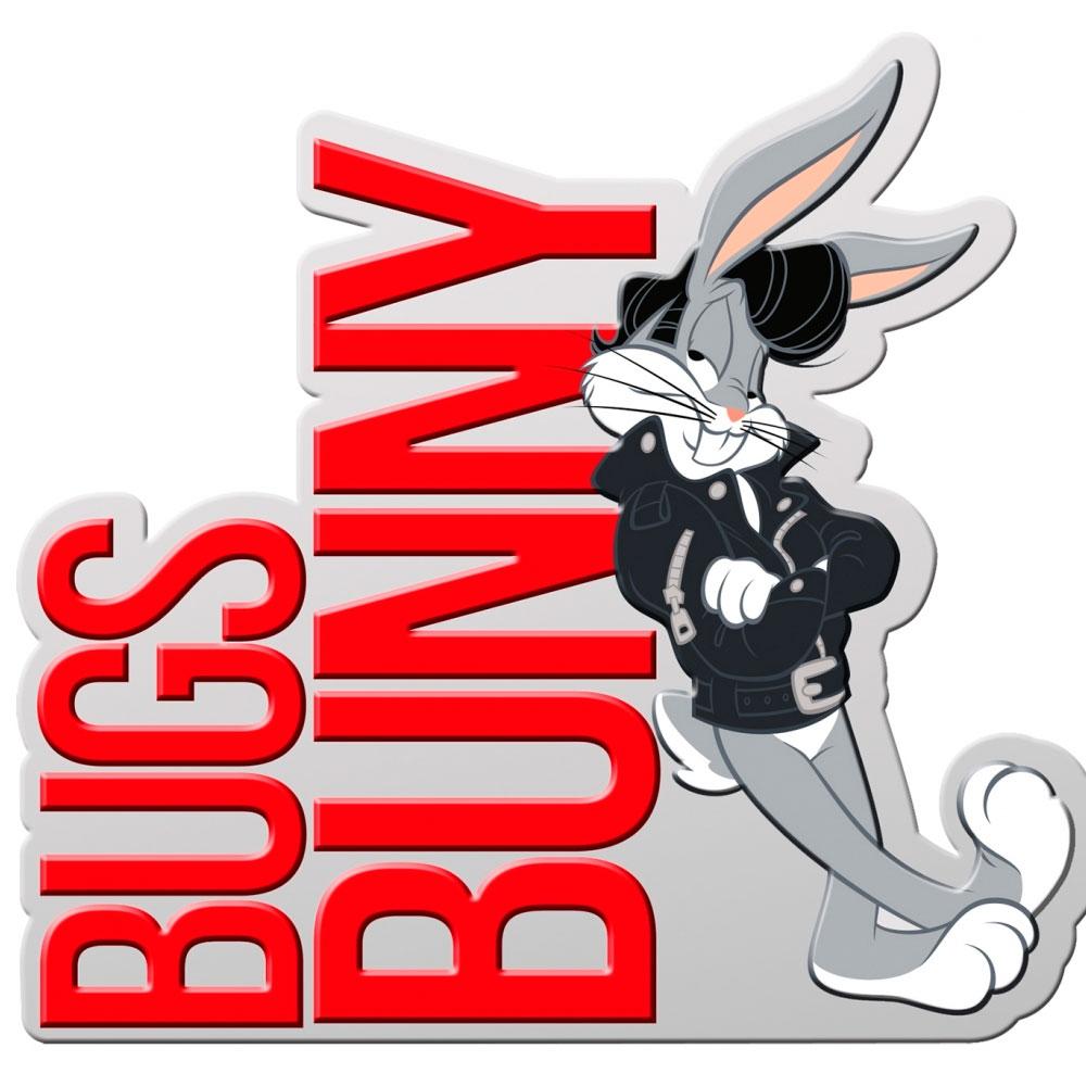 Placa Parede Metal Recortada Looney Bugs Bunny Charming