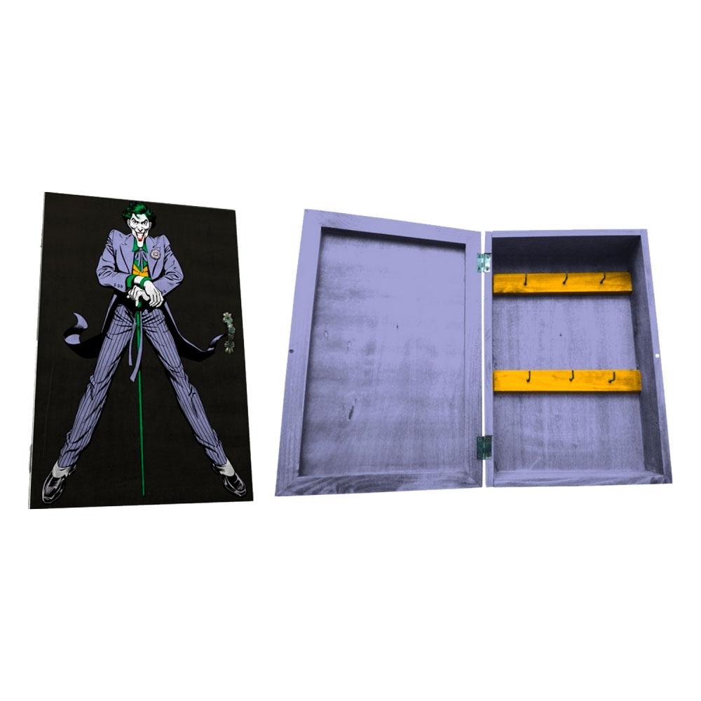 Porta Chave Com Porta Madeira DC Joker FD Roxo