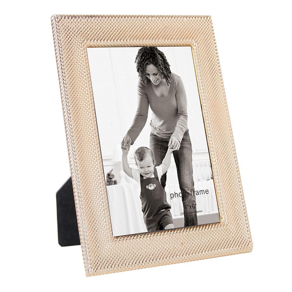 Porta Retrato Em Vidro e Metal Dourado 21cmx16cm