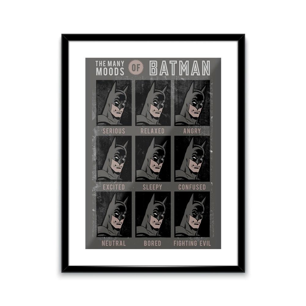 Pôster Com Passepartout DC Batman Faces