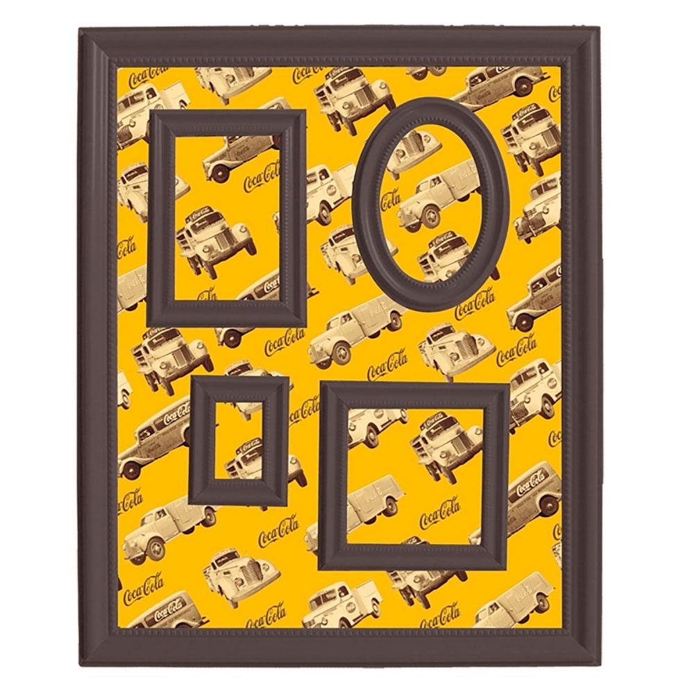 Quadro Magnético porta retratos Coca-Cola Amarelo