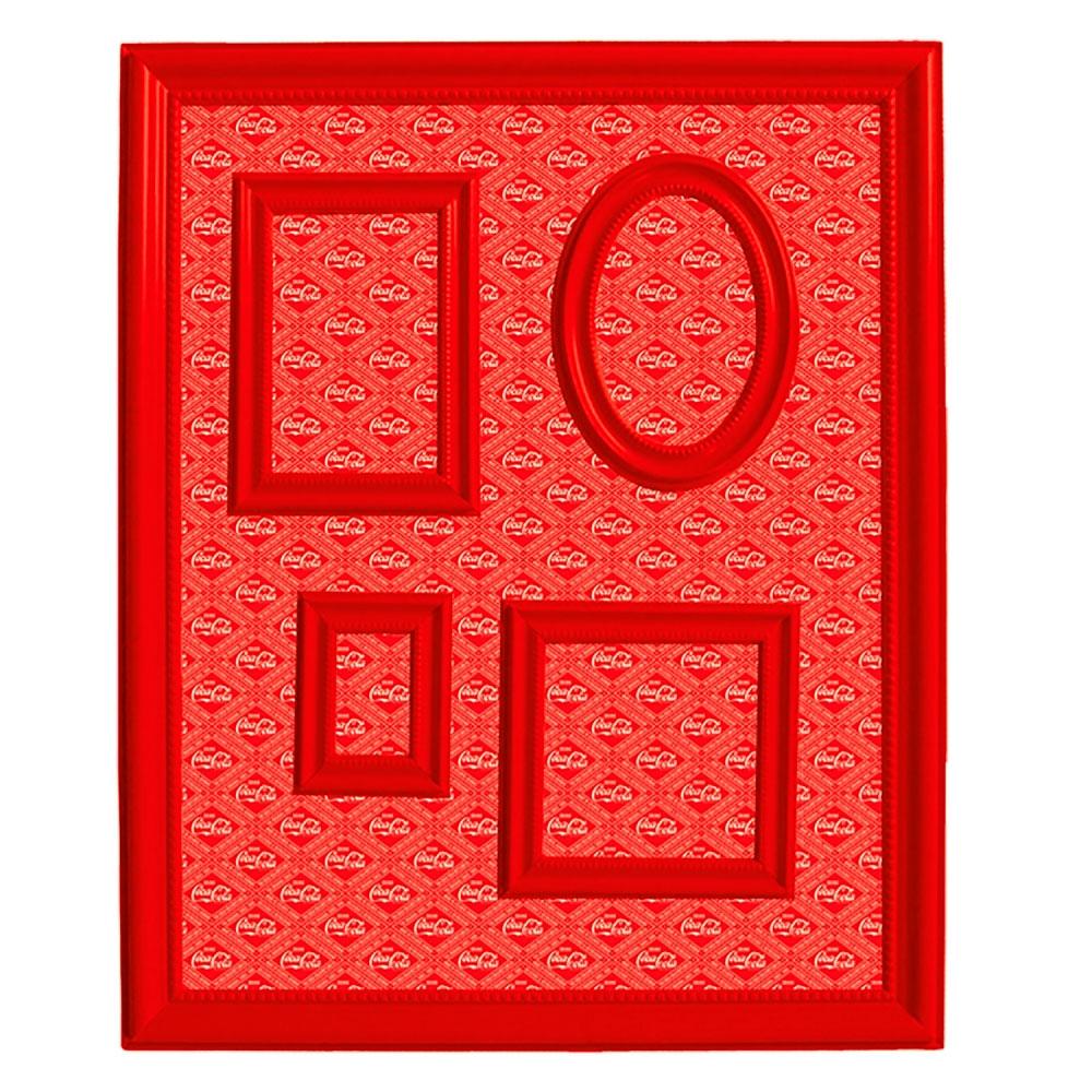 Quadro Magnético Porta Retratos Coca-Cola Vermelho