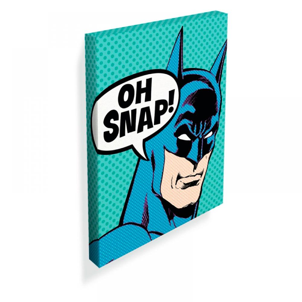 Quadro Tela DC Batman Oh Snap FD Azul