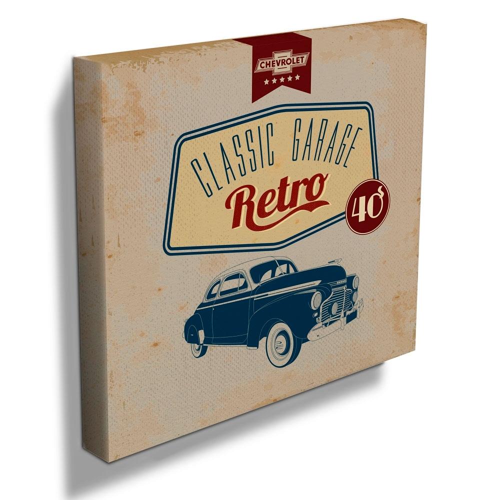 Quadro Tela GM Classic Garage Retro