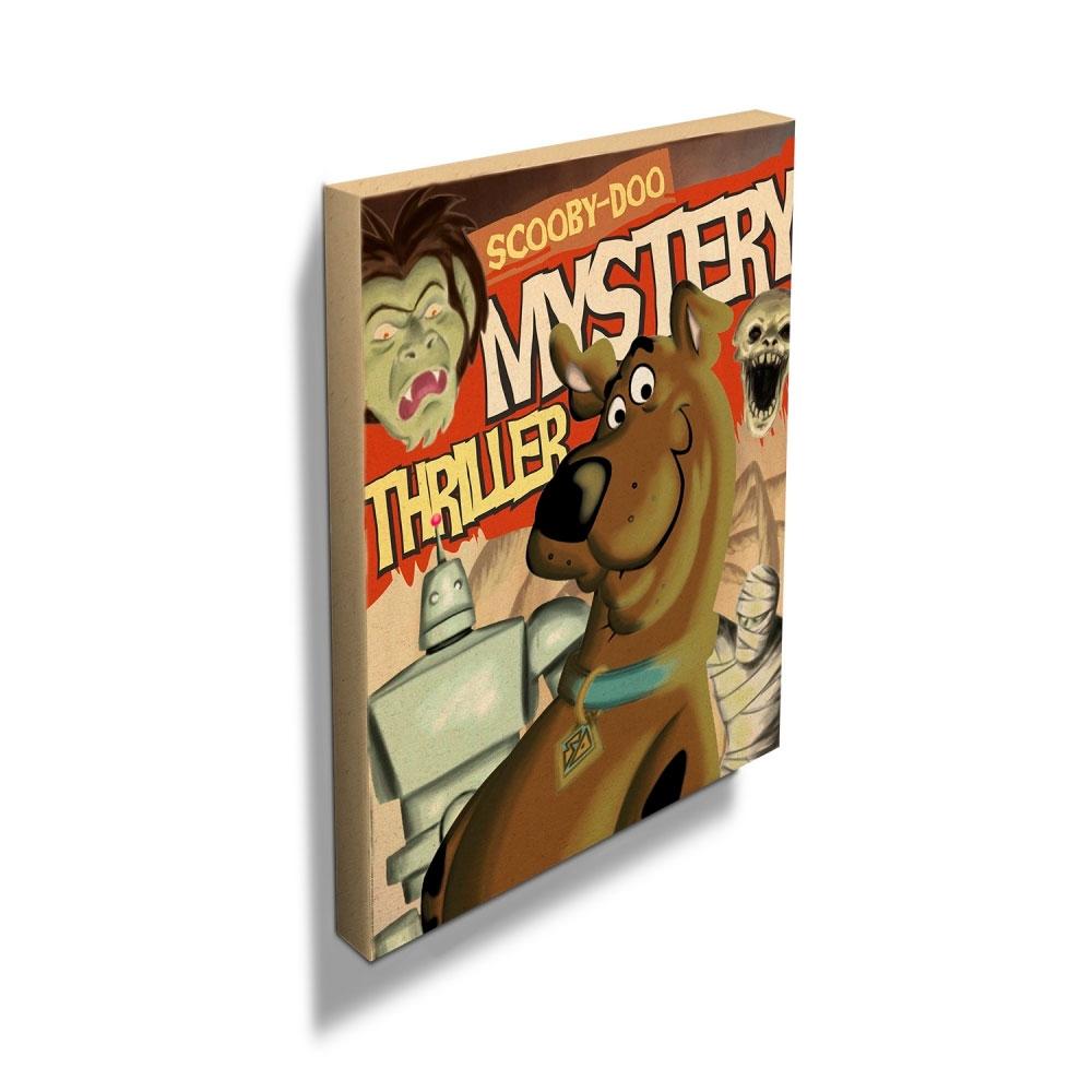 Quadro Tela HB Scooby Cover Page Colorido 40 X 50 X 1,8CM