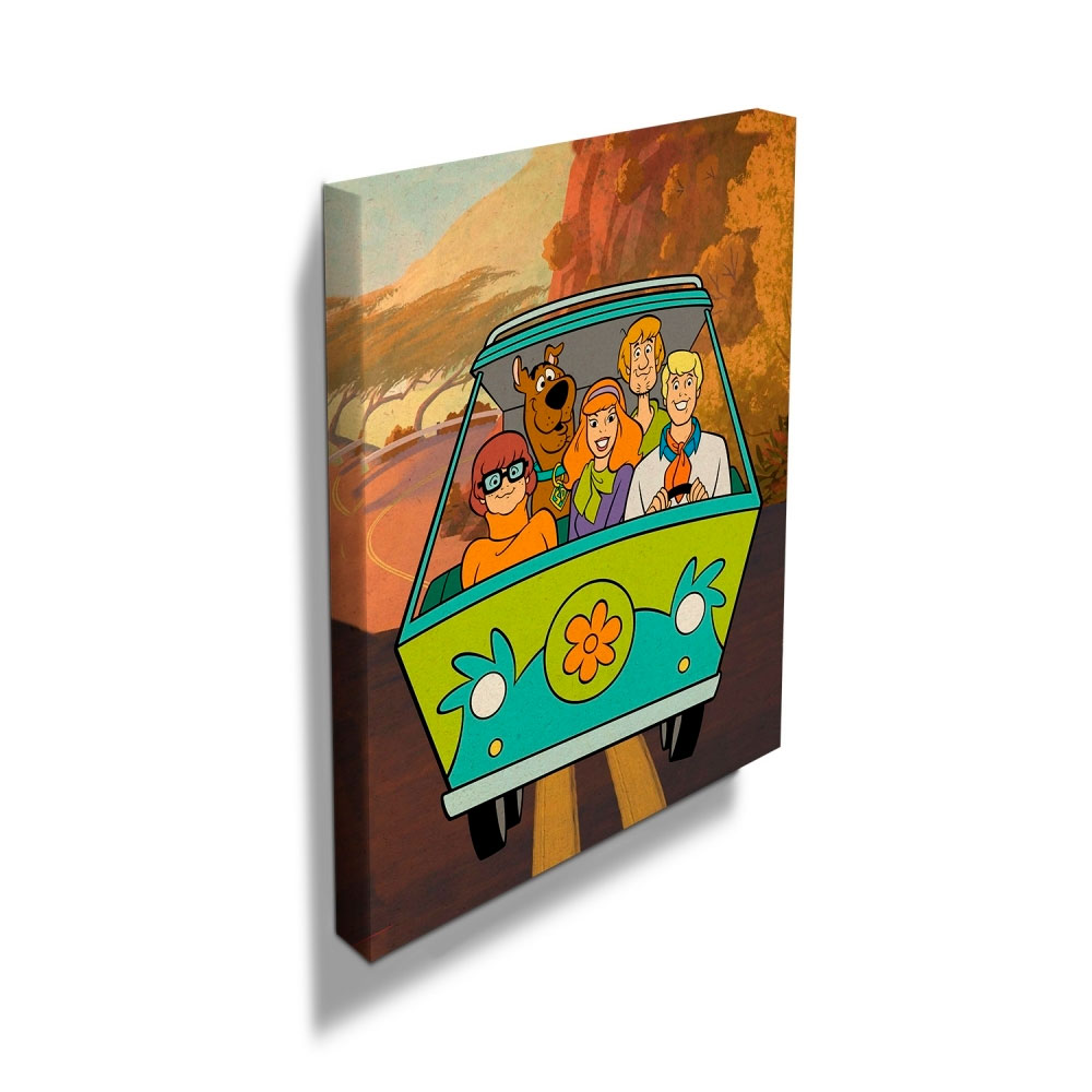 Quadro Tela HB Scooby Eveyrbody In The Mistery Machine