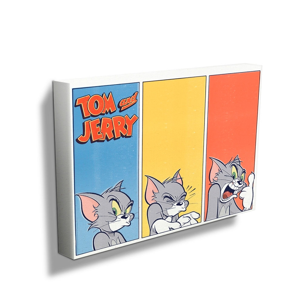 Quadro Tela HB Tom And Jerry Cat Different Faces