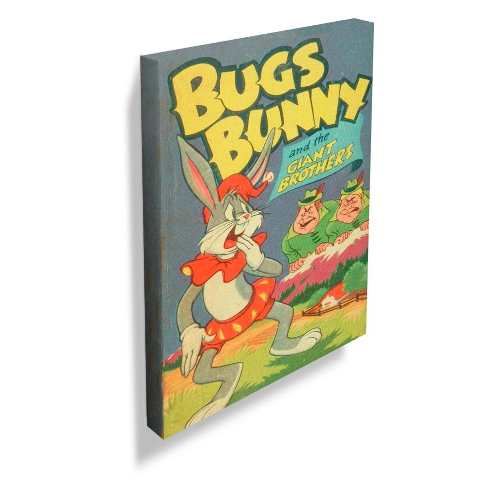 Quadro Tela Looney Vintage Collection Bugs Bunny