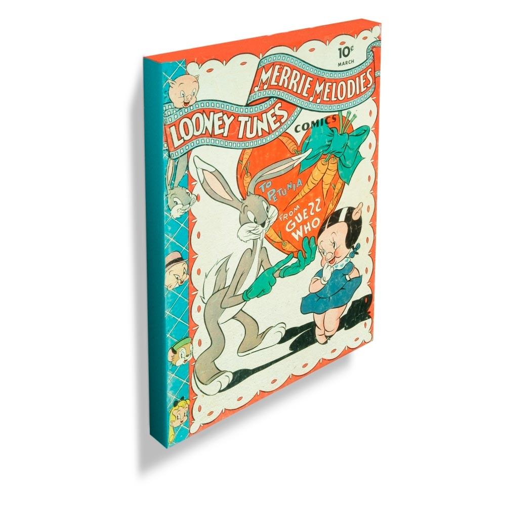 Quadro Tela Looney Vintage Collection To Petunia Colorido