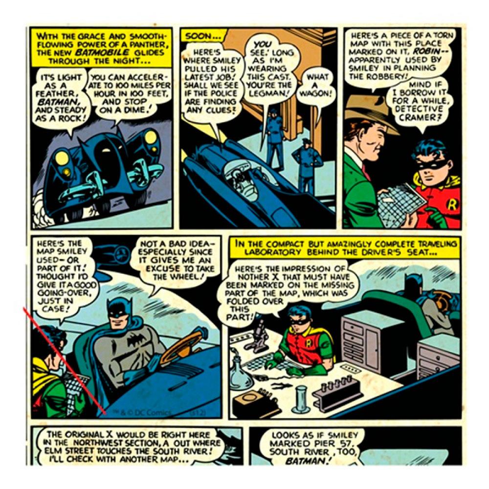 Quadro Tela Quadrinhos 02 DC Colorido.