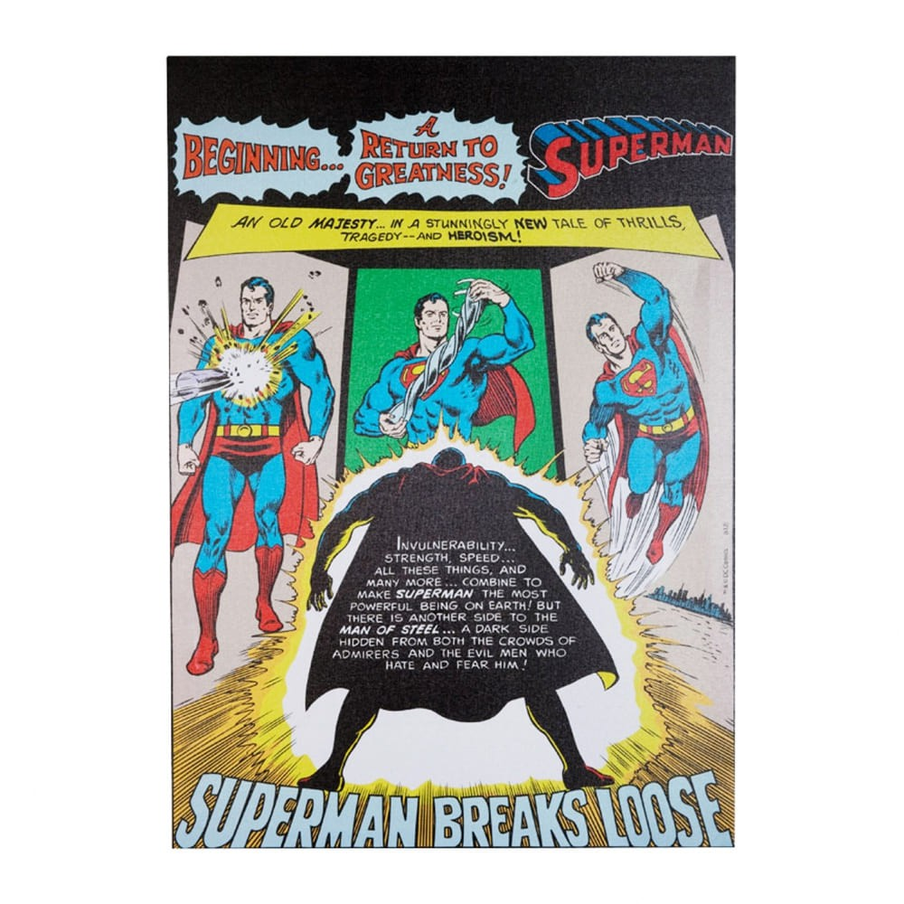 Quadro Tela Superman DC Breaks 70cmx50cmx3cm