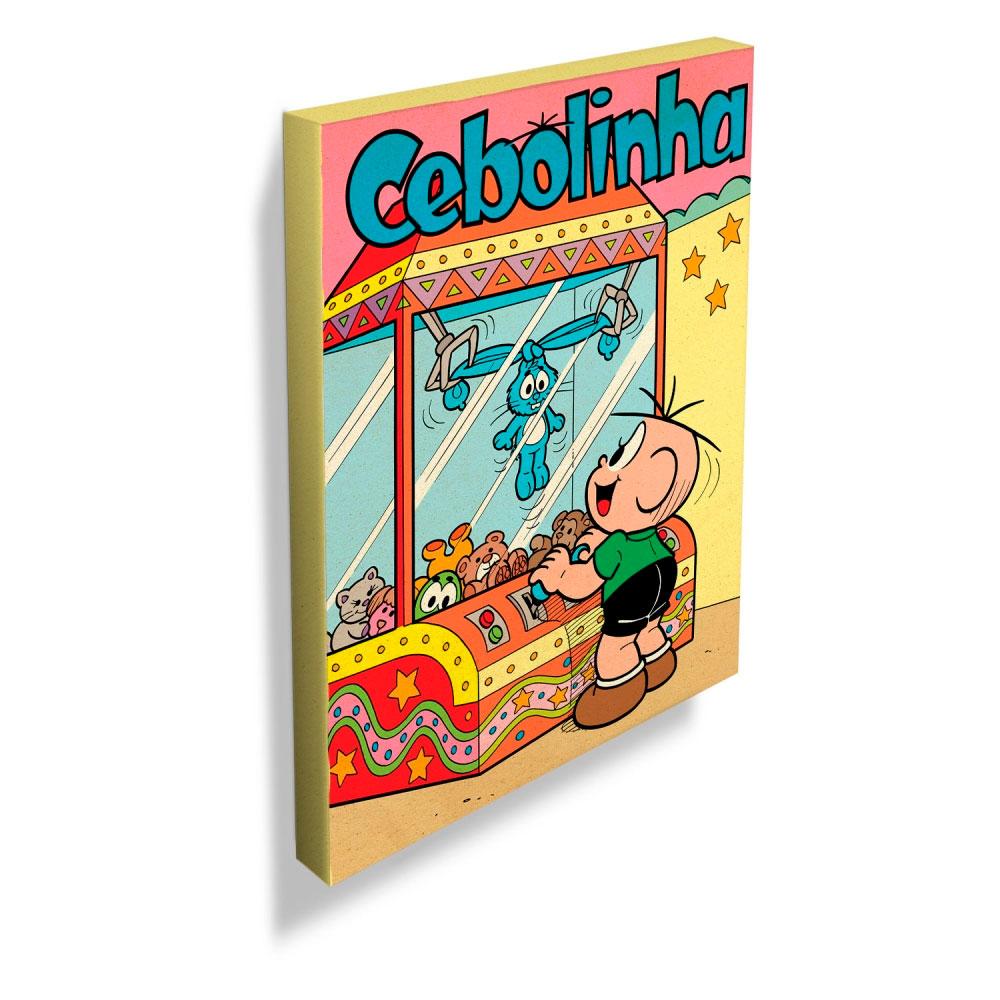 Quadro Tela Tm Cebolinha Toys Machine Colorido.