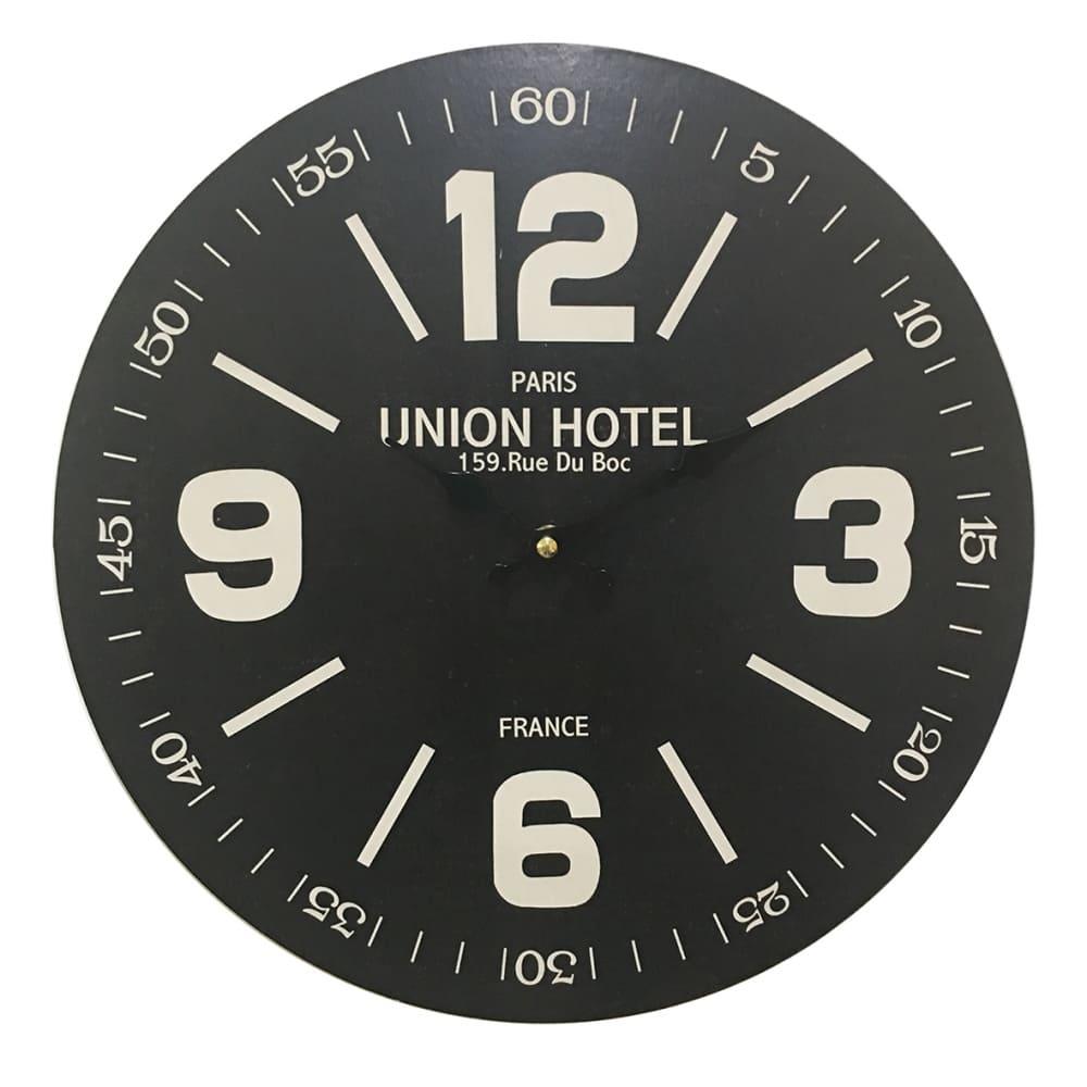 Relógio de Parede em Madeira Union Hotel 34cm
