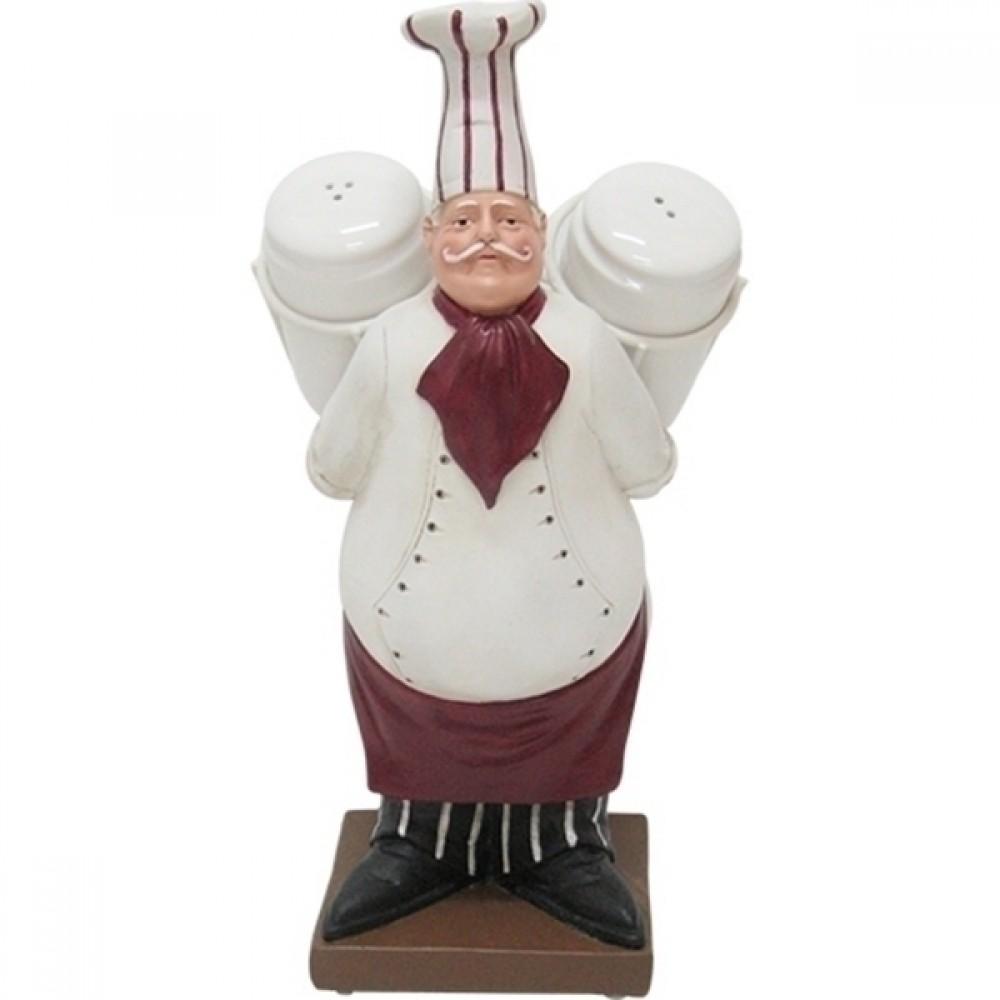 Saleiro e Pimenteiro Porcelana Mestre Cuca 29cmx15cmx13cm