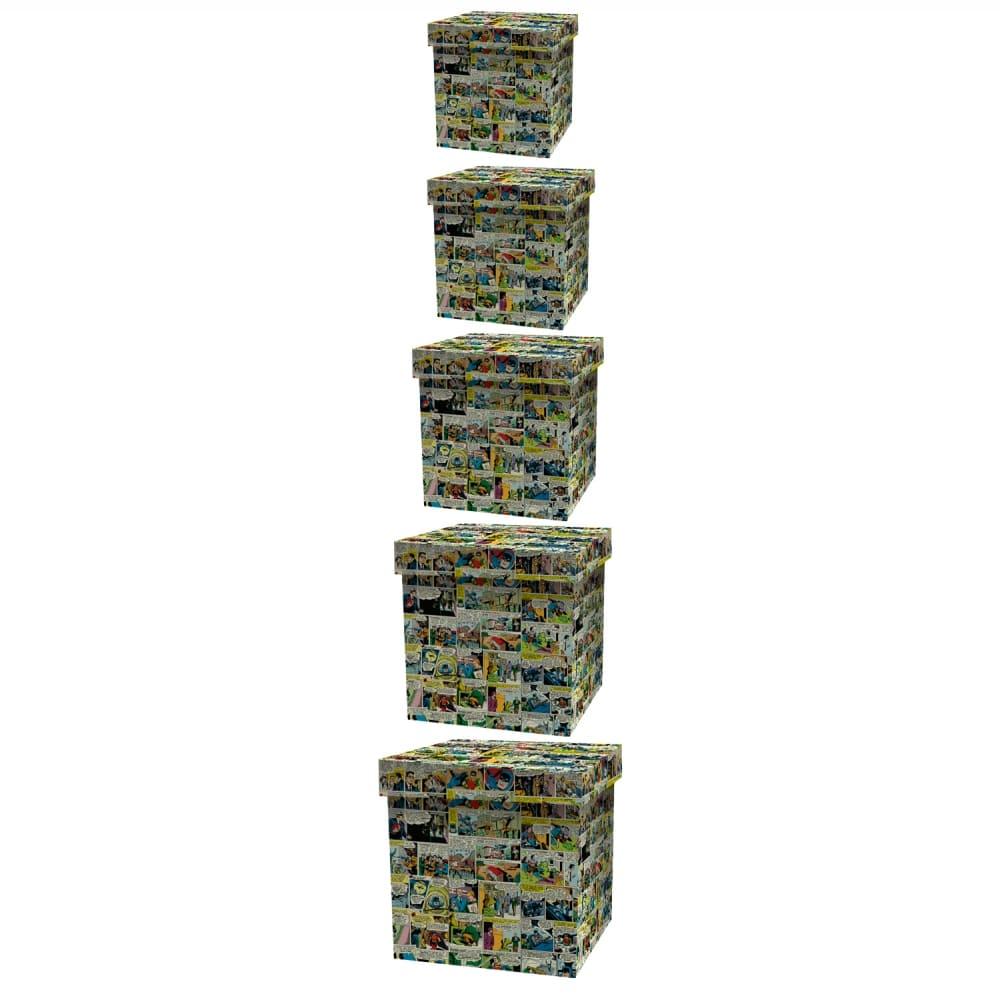 Set Caixa Organizadora 5 Pcs Madeira 42cmx41cmx42,5cm