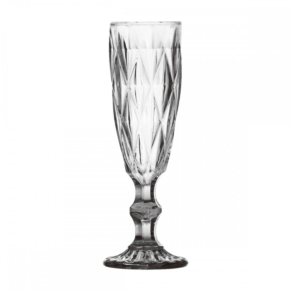 Taças De Champagne De Vidro Transparente Frans 140ml 6 Peças