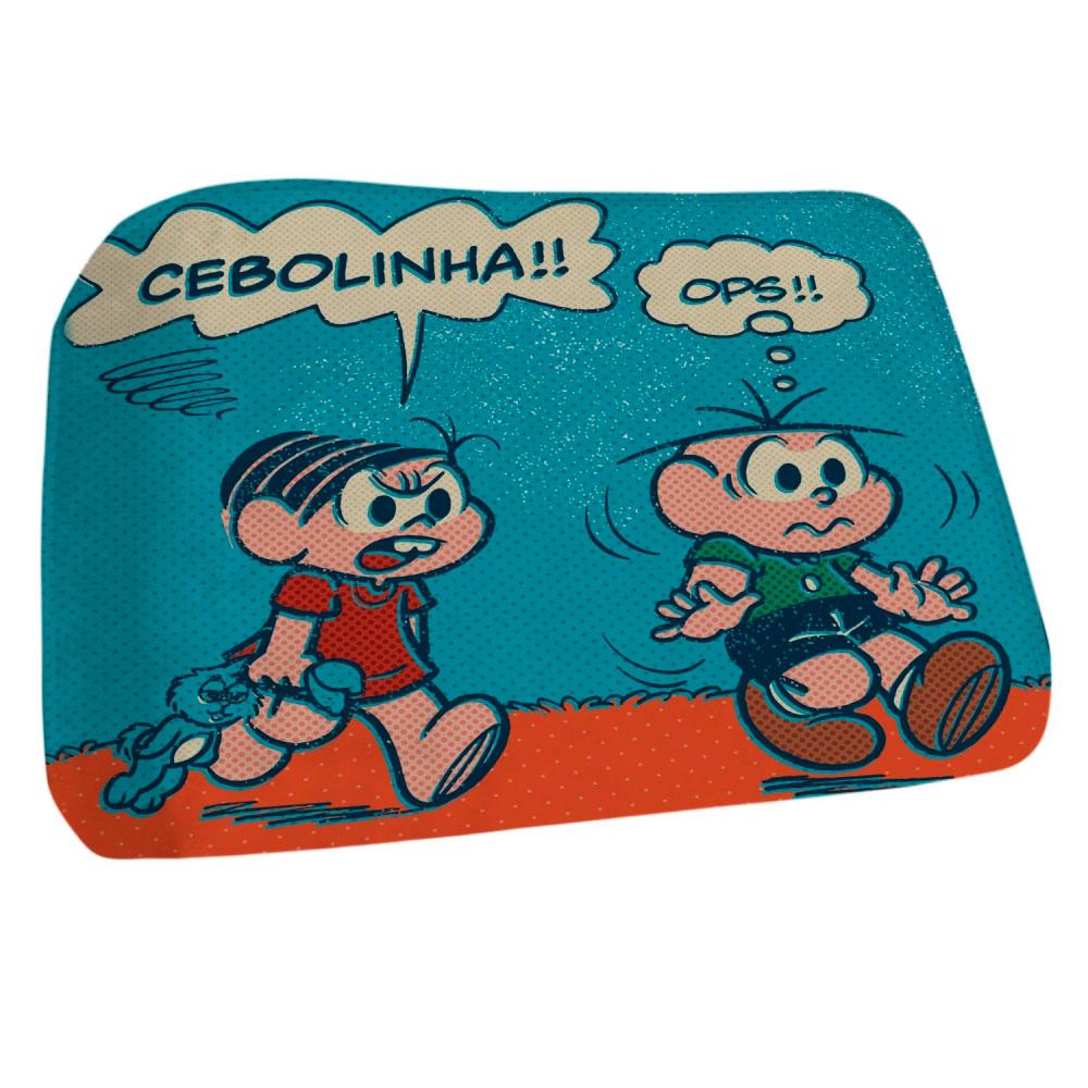 Tapete Floffy Poliéster Tm Cebolinha And Mônica Screaming